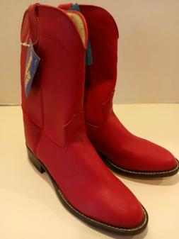 Wrangler Red Round Toe Cowboy Boots Size 5 1/2 D / Western
