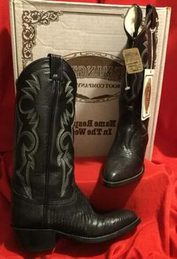 REMINGTON BOOT CO .. Lizard Leather Black Western Cowboy Boo
