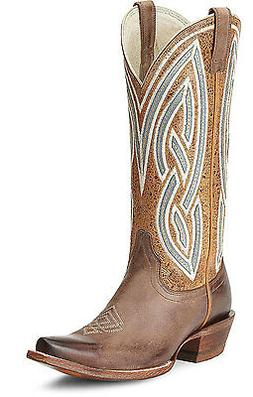 ARIAT Riata Western Brown Smoke Golden Tan Leather Cowgirl B