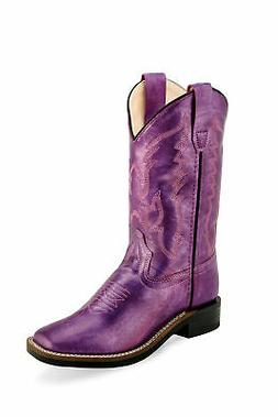 Old West Shiny Purple Childrens Girls Faux Leather Western C