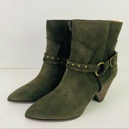 Lucky Brand Size 10M Green Suede Majoko Ankle Boots Western