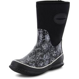 Western Chief Sketch Flowers Neoprene Mid Rain Boot - Womens