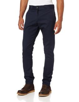 Dickies Men's Skinny Straight Fit Work Pant, Dark Navy, 26x3