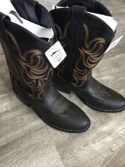 Smoky Mountain Cowboy Boots Monterey Brown/Black 3.5 Youth 5