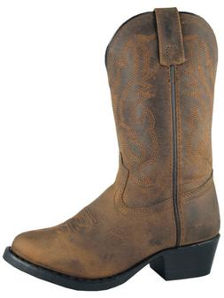 Smoky Mountain Kids Denver Western Cowboy Boots Leather Embr