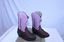 Smoky Mountain Pink / Brown Girls Denver Leather Western Boo