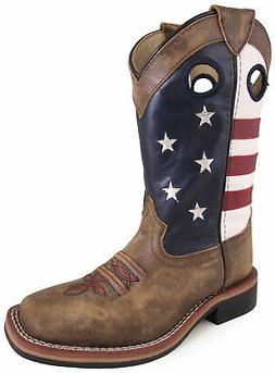Smoky Mountain Youth Boys Stars And Stripes Brown Leather Co