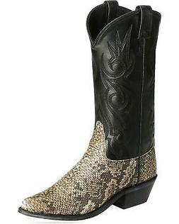 Old West Snake Printed Cowboy Boot - Round Toe - VCM9041