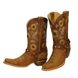 Sunflower Genuine Leather Western Cowgirl Boots Snip Toe Bot