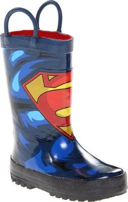 Western Chief Kids Superman Rain Boot, Blue,11 M US Little K