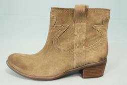 Lucky Brand TERRA Western Ankle Boots Brindle Suede Tan Size