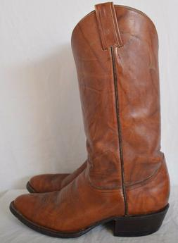 Tony Lama TL5084 Top Stitched Tanned Leather Dress Cowboy Bo