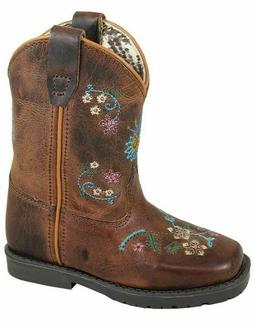 Smoky Mountain Toddler Western Boots Girls Floralie Pull On