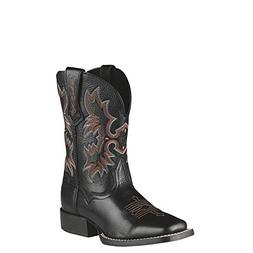 Ariat Tombstone Western Boot ,Black/Deer Tan,6 M US Big Kid