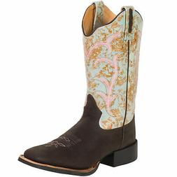Old West Turquoise Womens 11in Square Toe Cowboy Western Boo