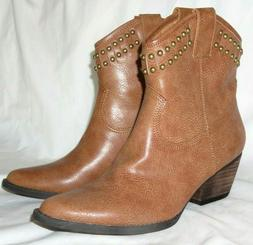 Very Volatile Lunet Women's Western Style Brown Ankle Boot