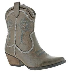 Very Volatile Vinn Womens Faux Leather Bootie Western Cowgir