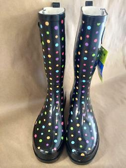 waterproof printed tall rain boot