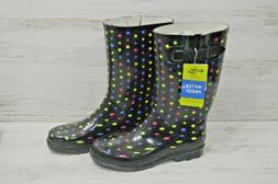 Western Chief Waterproof Rubber Rain Boots Size 10 Black Col