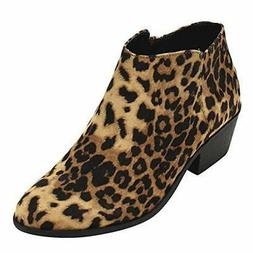 Soda Western Ankle Boot Cowgirl Low Heel Closed Toe Casual B
