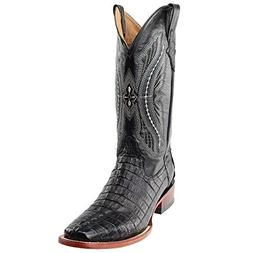 western boots caiman tail croc
