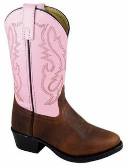 Smoky Mountain Western Boots Girls Denver Leather PVC Brown