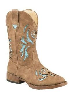 Roper Western Boots Girls Glitter Breeze Tan 09-018-1901-154
