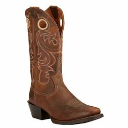 Ariat Western Boots Men Sport Square Toe Leather Powder Brow
