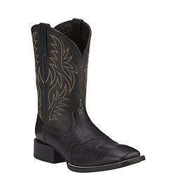 Ariat Western Boot Mens Sport Leather Wide Square Black 1001