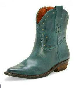 Lucky Brand Western Women's Boots 9.5 M Leather Dark TEAL
