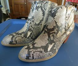 "Vionic ""Windom"" Upright Western Ankle Boot  - Natural Snake"