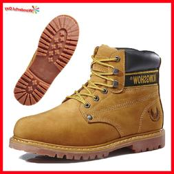 Kingshow Mens Winter Snow Work Boots Shoes Genuine Leather W