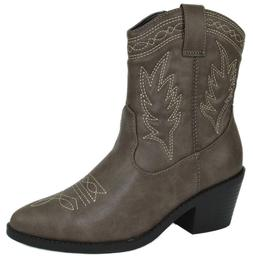 Soda Women Cowgirl Cowboy Western Stitched Ankle Boots Point