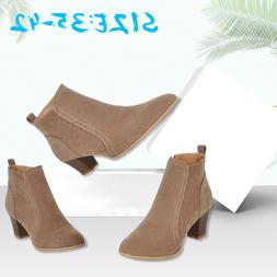 Women Fashion Suede Ankle <font><b>Boots</b></font> Round To
