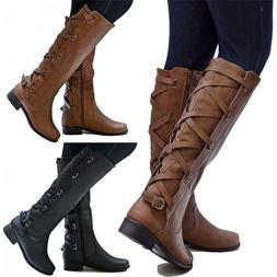 Women Leather Knee High <font><b>Boots</b></font> Fashion Cr