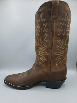 "ARIAT Women's 11""  Heritage Brown Western R Toe Boots Size 9"