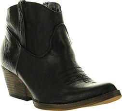 Very Volatile Women's Banjo Bootie,Black,8.5 B US