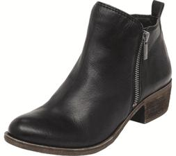 Women's Lucky Brand Basel Bootie Black Leather
