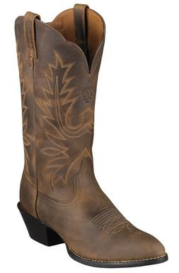 Ariat Women's Brown Heritage Round Toe Western Cowgirl Boots