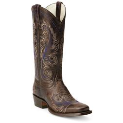 ARIAT Women's Catalina Antique Espresso Western Square Toe B