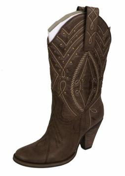 Very Volatile Women's Claudia Western Cowboy Boots Light Bro