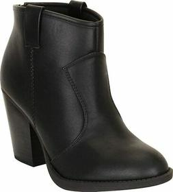 Cambridge Select Women's Country Western Stacked Chunky Heel