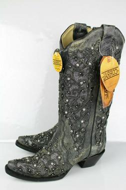 Corral Boots Women's Glitter Inlay Crystals Snip Toe Western