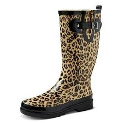 Western Chief Women's Leopard Rubber Rain Boots - Tan - Vari