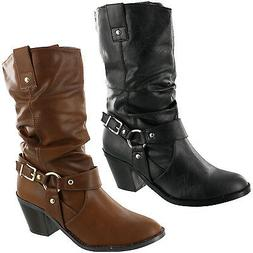 WOMEN'S SODA MOST-H WESTERN SLOUCHY BOOTS