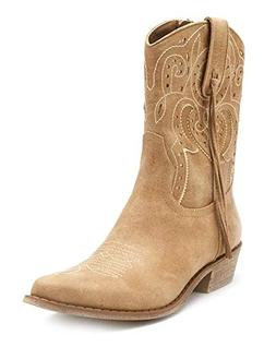 Coconuts by Matisse Women's Nash Western Boot, Natural, 10 M