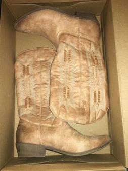 Coconuts by Matisse Women's Natural/Tan Western Cowgirl Boot