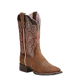 Ariat Western Boots Women Cowboy Quickdraw Badlands Brown 10