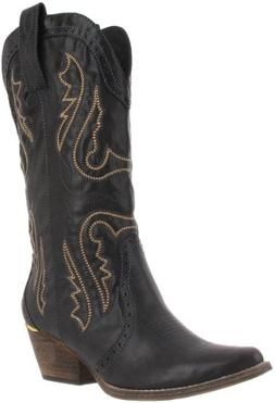 Very Volatile Women's Raspy Boot,Black,6 B US