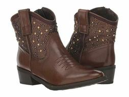 Very Volatile Women's Roslin Western Boots, Brown, US 8.5M